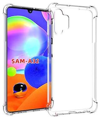 Samsung Galaxy A32 TPU Soft Back Cover By TARKAN ( Transparent )