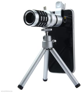 Tech Gear 015 12X Mobile Phone Camera Clip-on Monocular Long Fixed Focus Telescope Lens