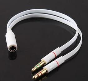 Tech Gear Headphone splitter - White