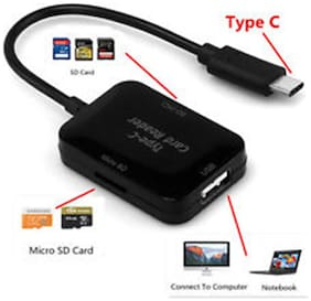 Tech Gear  Type C to USB 2.0  Hub  SD TF Memory Card Reader OTG USB 3.1 Adapter for Macbook