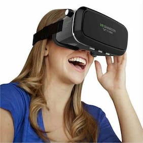 Tech Gear Virtual Reality 3D VR Box Headset Glasses For iPhone Samsung + Remote