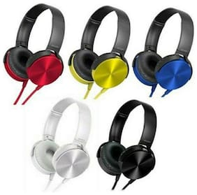 TECH VILLA EXTRA-BASS SCC On-Ear Wired Headphone ( Assorted )