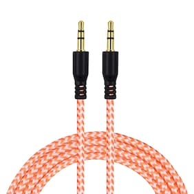 Tech-X 3 Ft (1M) Nylon Braided 3.5mm Plug Male to Male Car and Home Stereo Auxiliary Audio Extension Cable Cord For iPad, iPhone, iPod, Galaxy, Android, Headphone, MP3 Players( Mixed Colors)