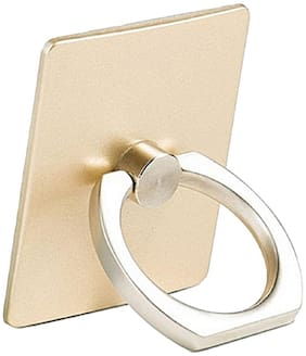 Tech-X 360 Degree Rotating Finger Ring Mobile Holder Stand for Mobile Phones & Tablets( Gold Colors )