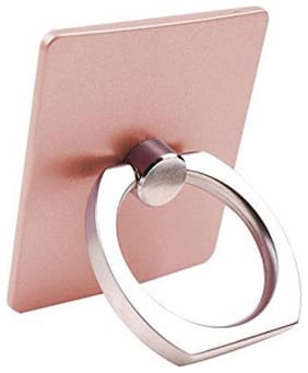 Tech-X 360 Degree Rotating Finger Ring Mobile Holder For All Smartphones (Gold)