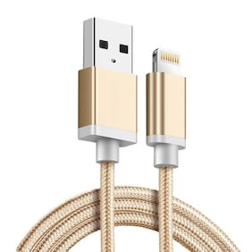 Tech-X  Lightning Cable, 3FT (1M) Lightning to USB A Cable Certified Fast Charging Charger Compatible with iPhone X 8 Plus 7 Plus 6S Plus 6 Plus 5 5S 5C SE iPod iPad Pro and More, GOLD