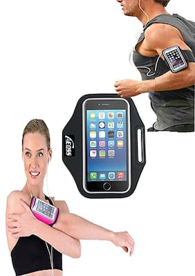 Tech-X Sports Armband Case Cover Holder for All Smartphones (Color may vary)