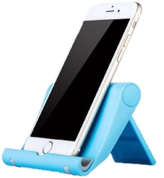 """Tech-X Tablet and Cell Phone Stand Holder, Multi-Angle, Durable, Anti-Slip, Landscape and Portrait, made for: Apple iPad,  and Any Devices from 4""""-12""""  ( Assorted Colors)"""