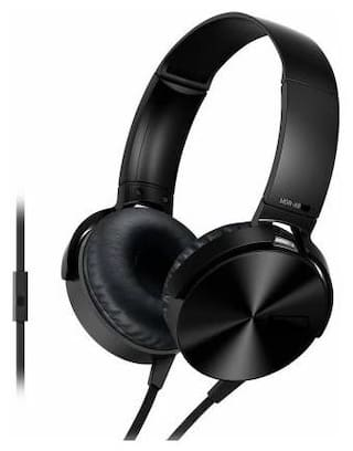 TECHFIRE EXTRA BASS MK-02 Over-Ear Wired Headphone ( Black )