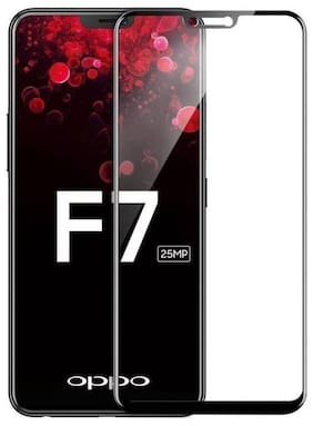 TEMPERED GLASSES Edge to edge tempered glass For Oppo f7