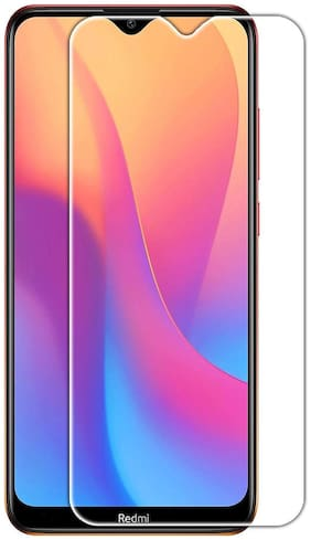 Tempered Glass for Mi Redmi 8A Dual/Mi Redmi 8A with Easy Installation Kit (Transparent)