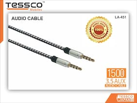Tessco Aux Cable For iPhone, iPad & Android Smart Phones (Multi Colours)