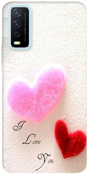 Vivo Y20G Silicone Back Cover By The Wide Store ( Multi )