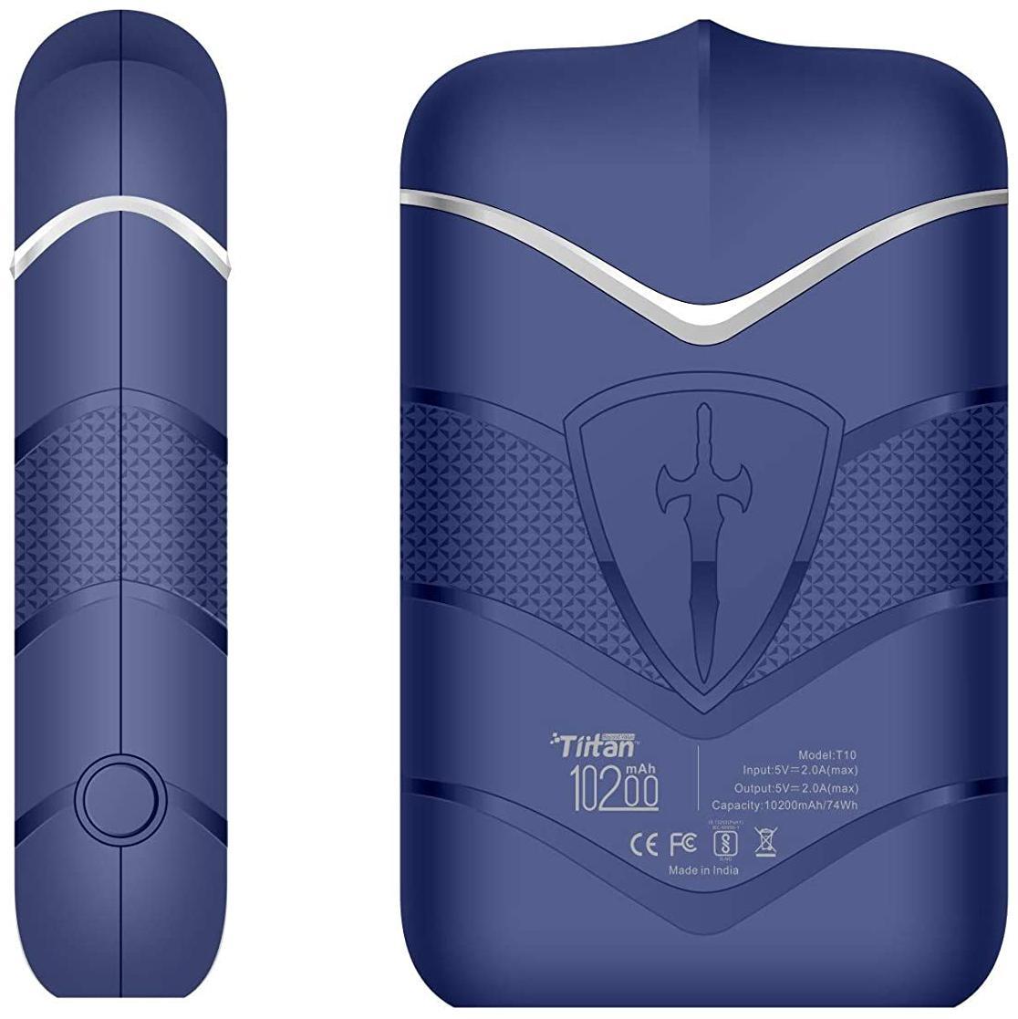 Tiitan P1020 10200 mAh Portable Power Bank - Blue