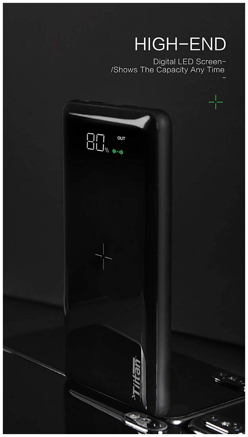 Tiitan P8 8000 mAh Portable Power Bank   Black