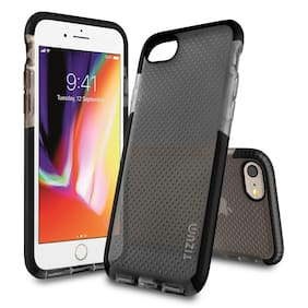 Tizum iPhone 8 Case Intelli Mesh Back Cover with Advanced Impact Protection (Black)