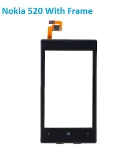 Touch Screen Digitizer Panel With Frame For Nokia Lumia 520
