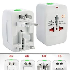 Travel Adaptor Works in more than 150 countries including EU / AU/ UK / US / CN / JP / HK