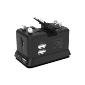 Trovo PowerPod TTA-13 Travel Adapter With Power Bank For All Smartphones (Black)