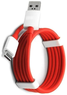 TSV 100% Orignal One Plus 5T Compatible USB Type C Charging Cable, 1 m Length (Red)