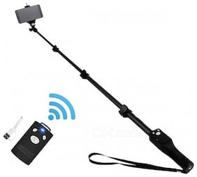TSV 1288 Bluetooth Selfie Stick for Smartphones with Bluetooth Remote Attach Along with it
