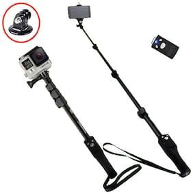 TSV 1288 Selfie Monopod Stick Without Aux Cable for DSLR/SLR Action Camera, Smart Phone