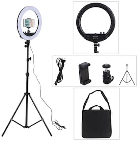 TSV 14 inches  Big LED Ring Light for Camera Smartphone to Capture Your Photo and Video With Portable Tripod Stand
