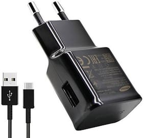 TSV  2Amp Type C Fast Charger Travel Charger Wall Charger with 1.2 Meter Data Transfer Or Charging Cable -Black