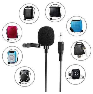 TSV 3.5 mm Clip Collar Mike for Voice Recording, Mobile, Pc, Laptop, Android Smartphones, DSLR Camera (Black)