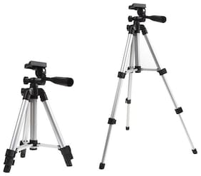 TSV 3110 Tripod With Mini Ring Light Foldable Camera Tripod with Mobile Clip Holder Bracket For Apple iPhone 6,6S,7,8x