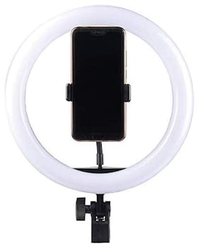 TSV Aluminium Alloy 3120 Tripod Stand Holder Clip for Phones with Selfie Ring Fill LED Light for All Devices