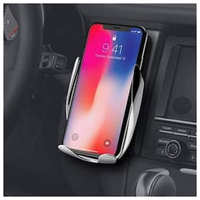 TSV Automatic Wireless Car Charger Mount Fast Wireless Charging 360° Air Vent Car Phone Holder for IOS Android All Qi-Enabled Phone