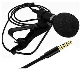 TSV Caller Audio Microphone 3.5mm Jack Plug Mic Stereo Mini Lapel Wired Collar MIC