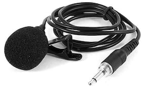 TSV  Caller Audio Microphone 3.5mm Jack Plug Mic Stereo Mini Lapel Wired Collar MIC For Interviews
