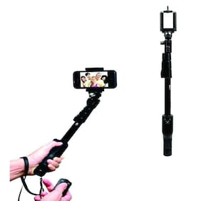 TSV High End Wireless Bluetooth (Mobile/Camera Stick) Monopod YT-1288 Selfie Stick Suitable with All Devices