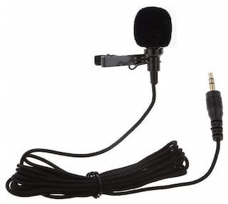 TSV Microphone For Bloggers And Vloggers Lapel Mic Clip-on Omnidirectional Condenser for Iphone Ipad Samsung Android Windows Smartphones(Black)