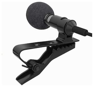 TSV Mini Singing and Recording 3.5mm Mic Lavalier Lapel Microphone with Long Cable for Voice Chat, Video Conferencing, Singing & Recording