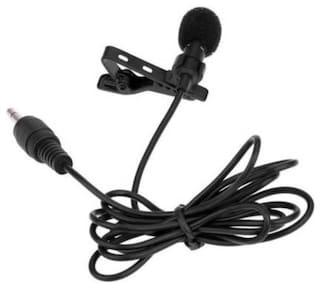 TSV Portable Handheld Collar Mic With Clip Best Mic For Youtuber Microphone For Singing Karaoke (BLACK)