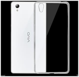 TSV Soft Silicone Transparent Back Case Cover For Vivo Y51L