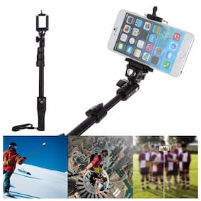 TSV YT1288 Multipurpose Wireless Selfie Stick Monopod with Bluetooth Remote Enabled for All Smartphones