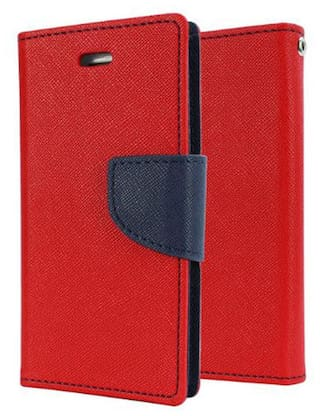 reputable site c24f5 1605d TUP Mercury Wallet Diary Flip Cover For Coolpad Note 3 - Red