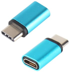 Type-C to Micro USB Converter  adapter For Smartphones And Other Type-C Devices By Tech-X Pack Of 2 (Colour May Vary)