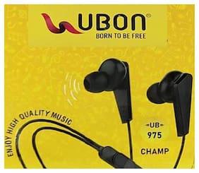 UBON UB 975 BLACK In-Ear Wired Headphone ( Black )