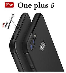 Ultimate Collection One plua 5 Flexible Shock Absorbing Cover Fits Both , Tpu Rubber Silicone Gel Case For One plus 5 Black