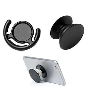 Ultimate collection Popsockets Universal Cell Phone Grip And Stands/Holder For Mobile Phones (Black)