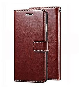 Ultimate Collection Faux Leather Flip Cover For Mi A1 ( Brown )