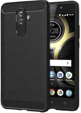 Ultimate Collection Rubber Back Cover For Lenovo k8 Plus ( Black )