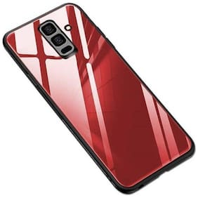 Ultimate Collection Glass Back Cover For Samsung Galaxy J8 ( Red )