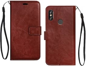 Ultimate Collection Polycarbonate Flip Cover For Redmi Note 5 Pro ( Brown )