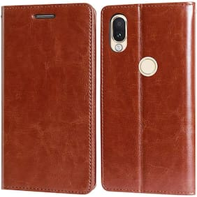ULTIMATE COLLECTION Flip Cover For ZENFONE MAX PRO M1 (Brown)